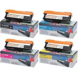 Kit Toner Quadricromia TN325BK-C-M-Y Originale per Brother