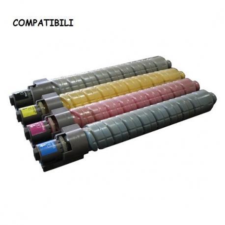 Kit Quadricromia Toner B-C-M-Y Compatibile RICOH 842030KIT (Conf. 4 PZ.)