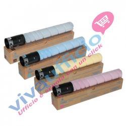 Kit Colore Originale B-C-M-Y per Konica Minolta Bizhub C220, C280, C360 (4 PZ.)