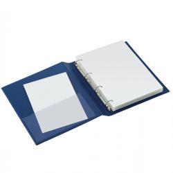 Raccoglitore Sanremo 2000 - 4 anelli a D 40 mm - dorso 5,5 cm - 22x30 cm - blu - Sei Rota
