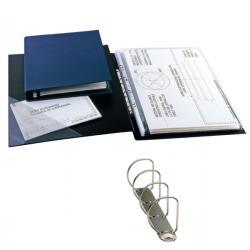 Raccoglitore Sanremo 2000 - 4 anelli a D 25 mm - dorso 4 cm - 42x30 cm (album) - blu - Sei Rota