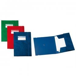 Cartellina 3 lembi Archivio 3L F - con elastico - Colpan® - 25x35 cm - blu - Sei Rota