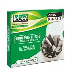 Punti KH - 23/8 - alti spessori - acciaio zincato - metallo - Lebez - conf. 1000 pezzi