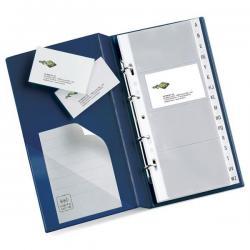 Portabiglietti Visita MC 16 - 15x28 cm - 160 biglietti - blu - Sei Rota
