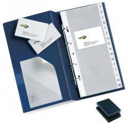 Portabiglietti Visita MC 30 - 16,5x28 cm - 320 biglietti - nero - Sei Rota