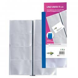 Portabiglietti Uno Visita TI 120 - 12x26,5 cm - 120 biglietti - trasparente - Sei Rota