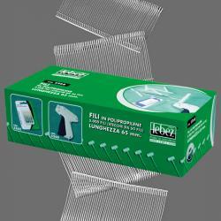Fili per sparafili Lebez 5260 - PPL - 40 mm - trasparente - Lebez - conf. 5000 pezzi