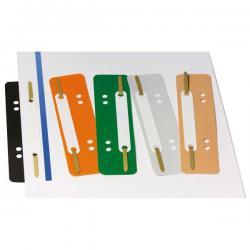 Pressini fermafogli - con linguette in metallo - 38x150 mm - colori assortiti - Lebez - conf. 250 pezzi