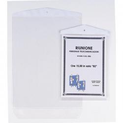 Buste Porta Avvisi Appendicartello - PVC - 15x21 cm - Sei Rota - conf. 10 pezzi