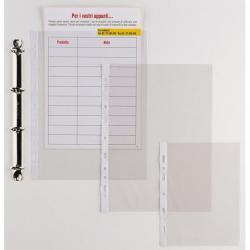 Buste forate Ercole - 15x21 cm - PVC - A5 - trasparente - Sei Rota - conf. 25 pezzi