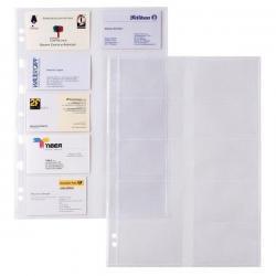 Buste forate Atla Card Porta Biglietti da visita - 20 Spazi - PPL - 21x29,7cm - trasparente - Sei Rota - conf. 10 pezzi
