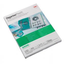 Pouches - A4 - 216x303 mm - 2x75 micron - GBC - scatola 100 pezzi