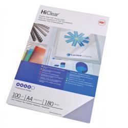 Scatola 100 copertine Hi-Clear - 180micron - A3 - neutro trasparente - GBC