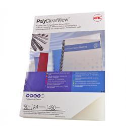 Scatola 100 copertine PolyClear View - A4 - 300micron - ppl neutro trasparente opaco - GBC