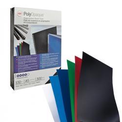 Scatola 100 copertine PolyOpaque - A4 - 300micron - ppl nero coprente - GBC