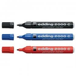 Marcatore 2200c - nero - punta a scalpello da 1,5 a 3mm - Edding