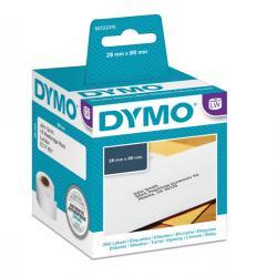 Rotolo 130 etichette LW 990100 - 28x89mm - carta - indirizzi standard - Dymo - Conf. 2 rotoli