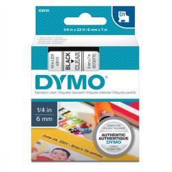 Nastro D1 - 436100 - 6mm x 7mt - nero/trasparente - Dymo
