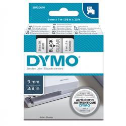 Nastro D1 - 409100 - 9mmx7mt - nero/trasparente - Dymo