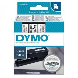 Nastro D1 - 409130 - 9mmx7mt - nero/bianco - Dymo