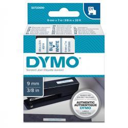 Nastro D1 - 409140 - 9mmx7mt - blu/bianco - Dymo