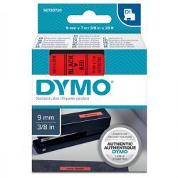 Nastro D1 - 409170 - 9mmx7mt - nero/rosso - Dymo