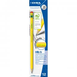 Matita di grafite Temagraph - gradazione HB - Lyra - scatola 12 matite