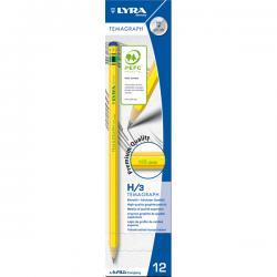 Matita di grafite Temagraph - gradazione H - Lyra - scatola 12 matite