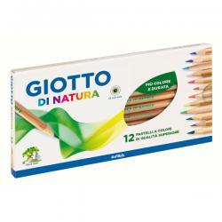 Astuccio 12 pastelli colorati Di Natura - legno naturale - Giotto