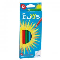 Astuccio 12 pastelli colorati Elios - esagonale - Fila