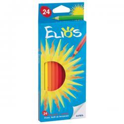 Astuccio 24 pastelli colorati Elios - esagonale - Fila