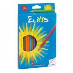 Astuccio 36 pastelli colorati Elios - esagonale - Fila