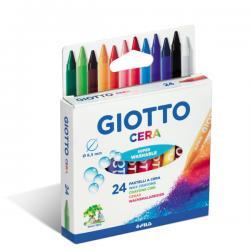 Pastelli cera - lunghezza 90mm con Ø 8,50mm- colori assortiti - Giotto - astuccio 24 colori