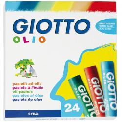 Pastelli a olio - colori assortiti - Giotto - Conf. 24 colori