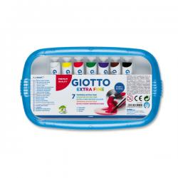 Colore a tempera - 12ml - tubo 4 - colori assortiti - Giotto - Conf. astuccio da 7 colori