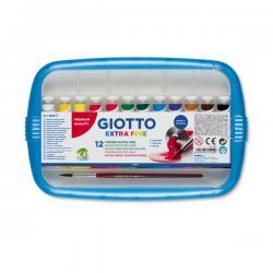 Colore a tempera - 12ml - tubo 4 - colori assortiti - Giotto - Conf. astuccio da 12 colori