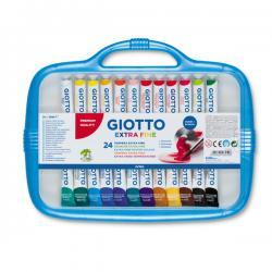 Colore a tempera - 12ml - tubo 4 - colori assortiti - Giotto - Conf. astuccio da 24 colori
