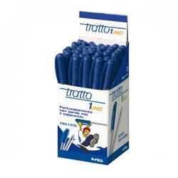 Penna a sfera con cappuccio - punta 1,0mm - blu - Tratto - conf. 50 pezzi