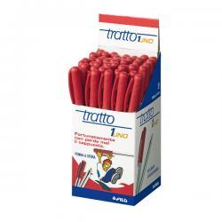 Penna a sfera - punta media 0,5mm - rosso - Tratto - conf. 50 pezzi