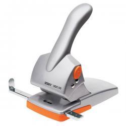 Perforatore HDC65 - massimo 65 fogli - 2 fori - passo 8 cm - argento/arancio - Rapid