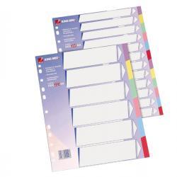 Separatore - cartoncino 225 gr - 6 tasti colorati - A4 - multicolore - King Mec