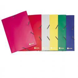 Cartellina 3 lembi - con elastico Lollipop - 22x30 cm - PPL opaco - giallo - King Mec