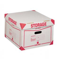 Scatola Storage - con coperchio - 38,5x26,4x39,7 cm - bianco e rosso - 1603 Esselte Dox