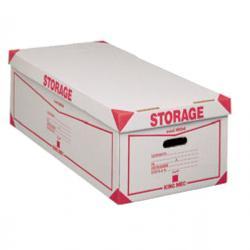 Scatola Storage - con coperchio - 38,5x26,4x75,5 cm - bianco e rosso - 1604 Esselte Dox