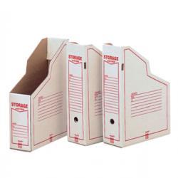 Portariviste Storage - 87x34x24,5 cm - bianco/rosso - 1606 Esselte Dox