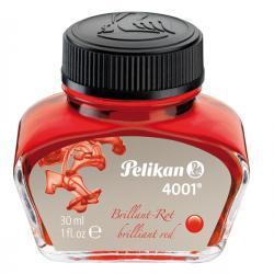 Inchiostro stilografico 4001 - lunghezza 39mm - rosso - 30ml - Pelikan