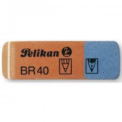 Gomma - blu e rossa - Pelikan - box 40 gomme