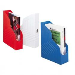 Portariviste Magazine Rack - 25x32 cm - dorso 8 cm - blu - Rexel