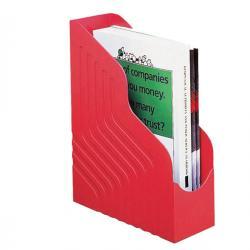 Portariviste Magazine Rack Jumbo - 25x32 cm - dorso 10 cm - rosso - Rexel