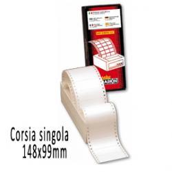 Etichette a modulo continuo S625 - 148x99 mm - corsia singola - permanente - bianco - Markin - scatola da 1500 etichette